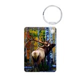 Trophy bull elk Aluminum Photo Keychain