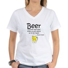 Beer and God Women's V-Neck T-Shirt