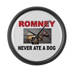 OBAMA LOVES DOGS Large Wall Clock