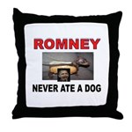 OBAMA LOVES DOGS Throw Pillow