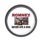 OBAMA LOVES DOGS Wall Clock