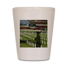 Guard at Arlington National Cemetery Shot Glass