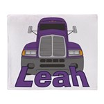 Trucker Leah Throw Blanket