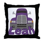 Trucker Leah Throw Pillow