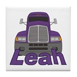 Trucker Leah Tile Coaster