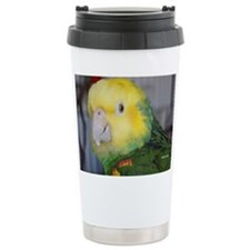 Double Yellow-Headed Amazon Ceramic Travel Mug