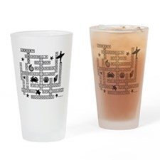 JERSEY SHORE SCRABBLE-STYLE Drinking Glass