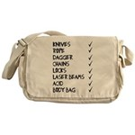murmaider checklist Messenger Bag