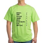 murmaider checklist Green T-Shirt