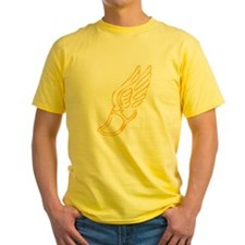 Golden Running Shoe T