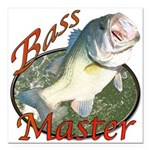 Bass master Square Car Magnet 3