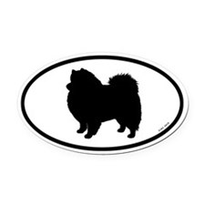 American Eskimo Dog Oval Car Magnet