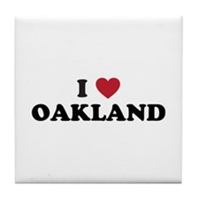 I Love Oakland California Tile Coaster