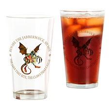 Beware the Jabberwock My Son Drinking Glass