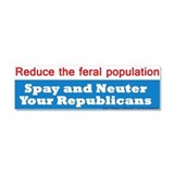 Spay Neuter Republican Car Magnet 10 x 3