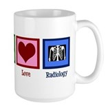 Peace Love Radiology Mug