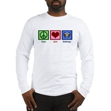 Peace Love Radiology Long Sleeve T-Shirt