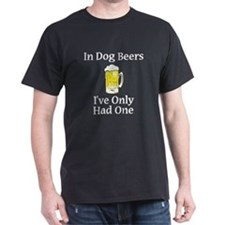 Dog Beers Dark T-Shirt