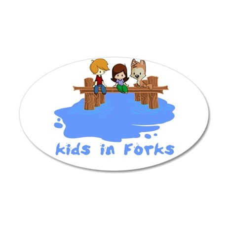 forksTkids.png 20x12 Oval Wall Decal