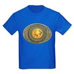Indian gold oval 2 Kids Dark T-Shirt