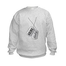 Army Baby Dog Tags Sweatshirt