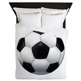 Soccer Ball Queen Duvet