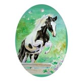 Pinto Pony Oval Ornament