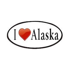 I Love Alaska Patches