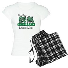 Real Cheerlaeder Green Pajamas