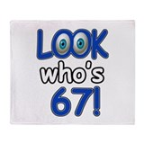 Look who's 67 Throw Blanket