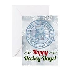 Eat, Sleep, Play Hockey Christmas Greeting Cards