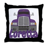 Trucker Loretta Throw Pillow