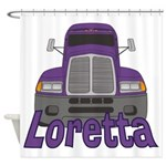 Trucker Loretta Shower Curtain