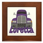 Trucker Loretta Framed Tile