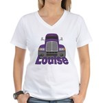 Trucker Louise Women's V-Neck T-Shirt