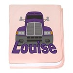 Trucker Louise baby blanket