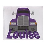 Trucker Louise Throw Blanket