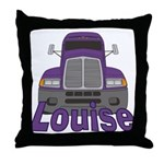 Trucker Louise Throw Pillow