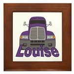 Trucker Louise Framed Tile