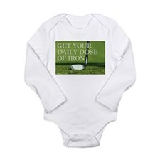 Cute Golf Long Sleeve Infant Bodysuit