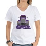 Trucker Mackenzie Women's V-Neck T-Shirt