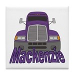 Trucker Mackenzie Tile Coaster