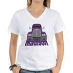 Trucker Madison Women's V-Neck T-Shirt
