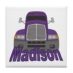 Trucker Madison Tile Coaster