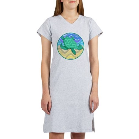 Turtle on Beach Women's Nightshirt