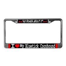 NB_Bluetick Coonhound License Plate Frame