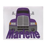 Trucker Marlene Throw Blanket