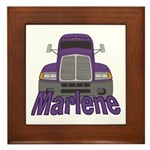 Trucker Marlene Framed Tile