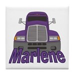 Trucker Marlene Tile Coaster