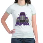 Trucker Marsha Jr. Ringer T-Shirt